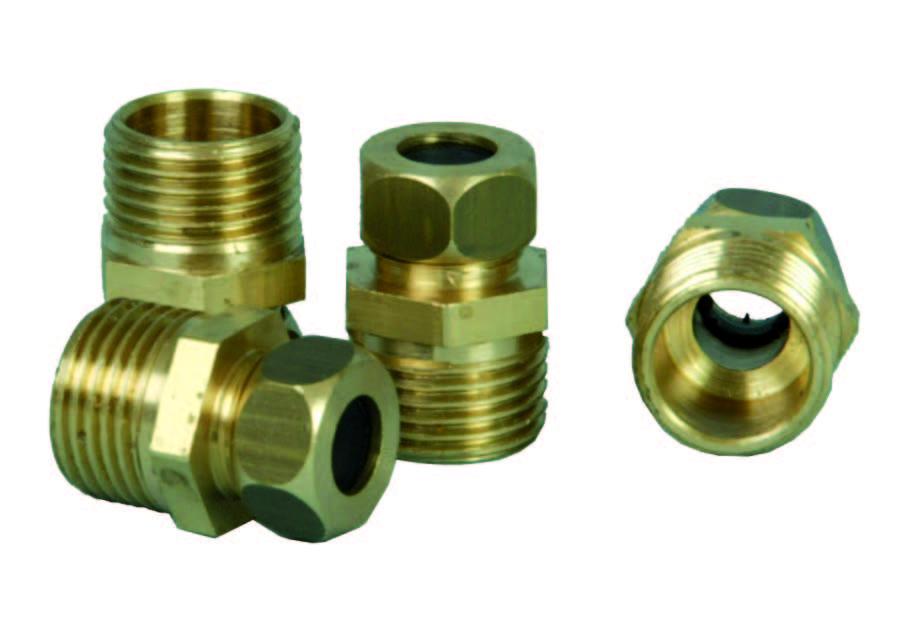 "Brass Nipple 10mm x 1/2"""