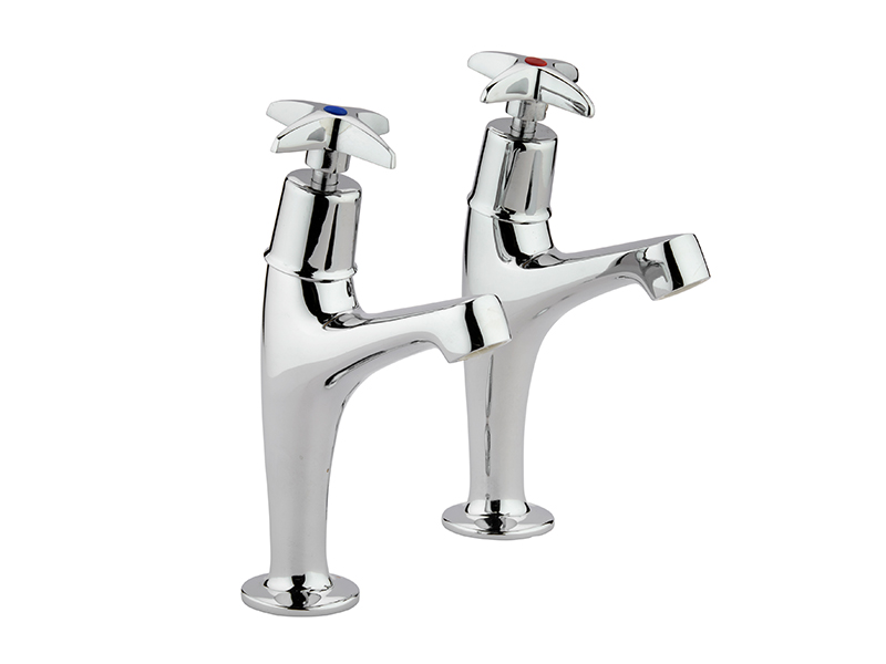Chrome X-Head High Neck Sink Taps