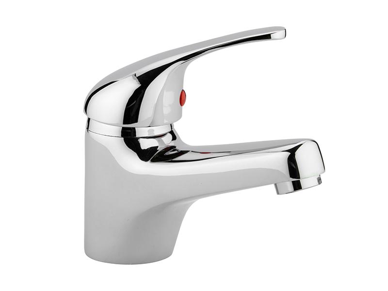 Chrome 1-Hole Single Lever Basin Mixer Tap