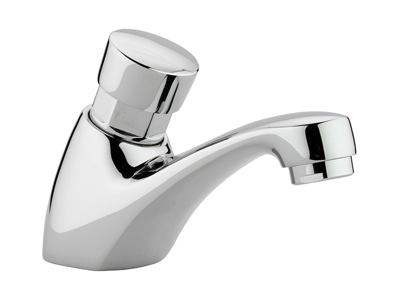 Chrome Self Closing Deck Mounted Tap