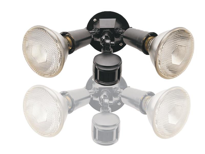 Twin Spotlight 2x150W With P.I.R. Detector