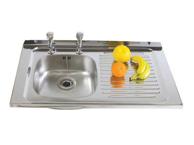 Stainless Steel Sink - Single Bowl, Single Drainer, Right Hand Drainer (SBSD)