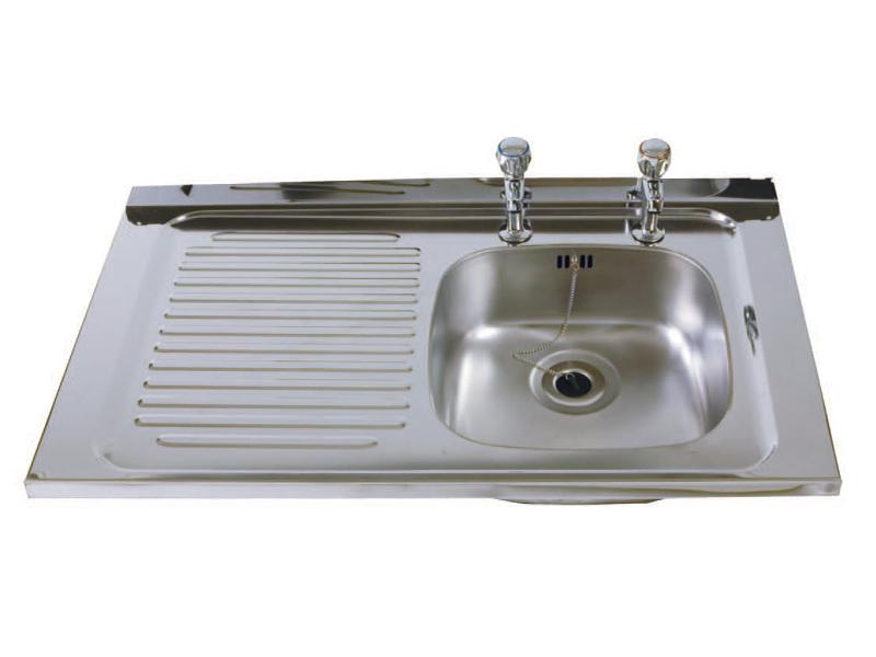 Stainless Steel Sink - Single Bowl, Single Drainer, Left Hand Drainer (SBSD)
