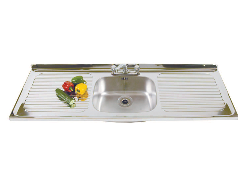 Stainless Steel Sink - Single Bowl, Double Drainer (SBDD)