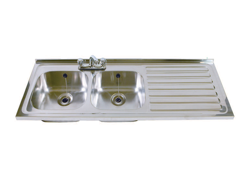 Stainless Steel Sink - Double Bowl, Single Drainer, Right Hand Drainer (DBSD)