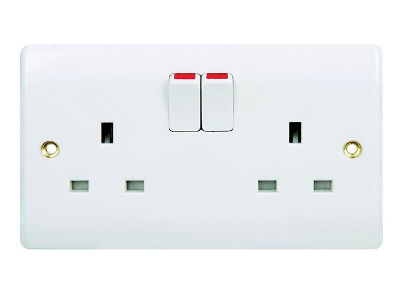 2 Gang Switched Socket Outlet