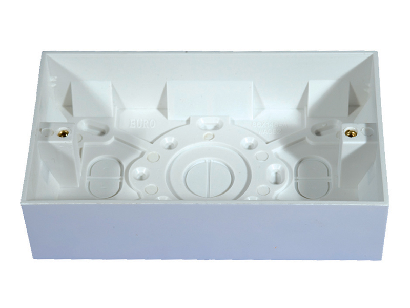 Pattress Box - 2 Gang 35mm