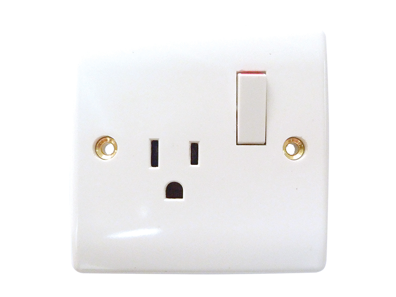 U.S. Type Single Switched 110V Socket Outlet - 15 Amp