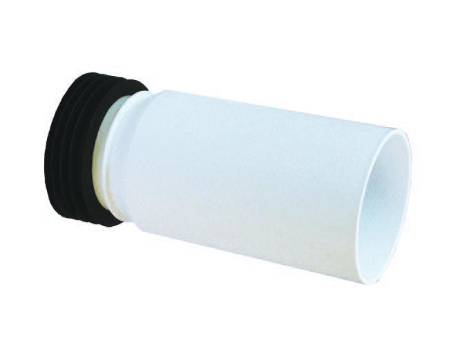White PVC Pan Connector Extension